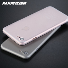 Wholesale Pp Fittings - Fanaticism 0.3mm Ultra Thin Slim Matte Frosted Transparent Clear Soft PP Cover Case For iPhone 7 4.7 inch