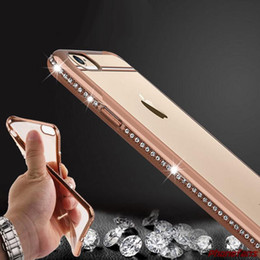 Wholesale Thinnest Iphone Shell - Hot Selling New Thin Slim Clear Soft TPU Crystal Rhinestone Shell Case For iPhone 6 6S 6 PLUS 7 7 Plus Silicone Cases