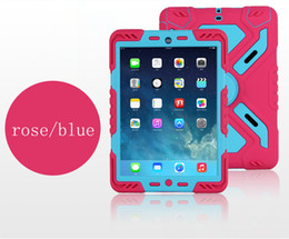Wholesale Mini Ipad Water Case - Pepkoo Defender Military Spider Stand Water dirt shock Proof Case Cover Plastic + Silicone for ipad 2 3 4 iPad Air 2 air iPad Mini Retina