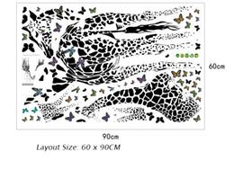 $enCountryForm.capitalKeyWord NZ - Giraffe Butterfly Sketch Wall Tattoo Kids Room Nursery Imagination Wall Painting DIY Home Decoration Wall Stickers Creative Wall Decals Art