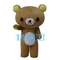 Wholesale Chiffon Children S Dresses - Fast Ship Hot Sale Rilakkuma Mascot Costume Party Cute party Fancy Dress Adult Children Size