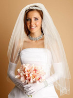 Wholesale Crystal Pearl Swarovski - 2 Layers - Delecate Threaded Chain Design with Scattered Pearls Swarovski Crystals wedding veil 003