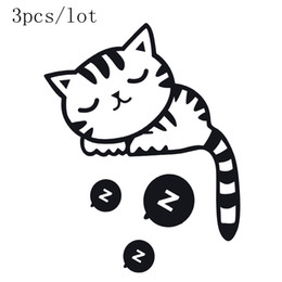 Wholesale wall stick decor - Wall sticker DIY poster Cat Stickers Creative wall stickers funny wall stickers for kids rooms wall stickers home decor 3 pcs