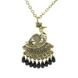 antique jewellery pendants Coupons - peacock necklace | antique bronze peacock jewelry necklaces ,Austrilia fashion jewellery , NL-1325B