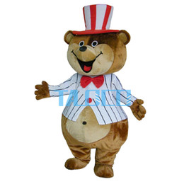 2018 new cute Striped bears Mascot HOT-sale Adult hot selling Costume Mascot costumes sale free shipping