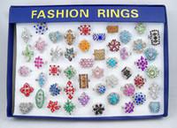 anéis de liga redimensionáveis venda por atacado-10pcs lotes Cristal Rhinestone Ring Costume Anéis Tamanho Reliable Alloy Rings