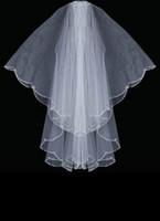ingrosso velo di tallone d'argento-Forma ovale Silver Bugle Bead Designer Edge Swaroviki Crystals Wedding Veil velo da sposa 037