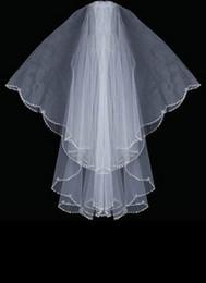 Forma oval Plata Bugle Bead Designer Edge Swaroviki Cristales Velo de novia velo de novia 037 desde fabricantes