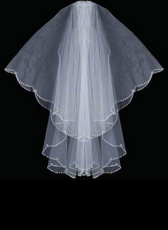 best selling Oval Shape Silver Bugle Bead Designer Edge Swaroviki Crystals Wedding Veil wedding veil 037