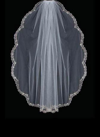2021 Nuovo economico oro smerlato bordo bordo bordo perline perle strass velo velo velo velo