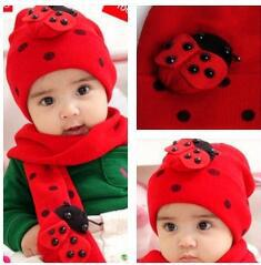Muffler Neck Canada - Kids Knitted Beanies Crochet 2piece Set Baby Cap And Neck Scarf Boys Children Scarves Bandelet Muffler Baby Headgear Winter Hat