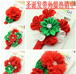 $enCountryForm.capitalKeyWord Canada - New Style Christmas Hair Ornaments Children Flowers Hair Band Baby Girls Headband Headdress for Kids Gift Wholesale Free Shipping