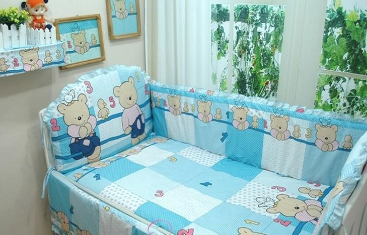 Sale 100 Cotton Bear Baby Bumper Bedding Sets Crib Set