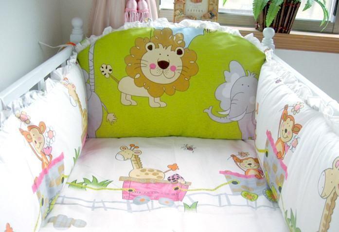 Custom Available Cartoon Baby Cot Bumper Babies Cribs
