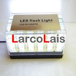Roof Magnet Canada - White 48 LED 12V Car Roof Flash Strobe Light Magnets Emergency Lamp EMS Light Shell Flashing 48LED Lights