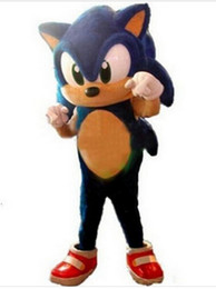 Wholesale Sonic Hedgehog Costume Adults - 2017 Newest Style Sonic the Hedgehog Mascot Costume Adult Size Blue Knuckles Sonic the Hedgehog Mascotte Outfit Suit