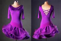 real sex para la venta al por mayor-Falda de baile latino para adultos / niños en venta Bailes de baile latino en línea Vestido de baile latino Vestido De Baile Latino