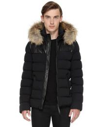 Wholesale Fur Collar Bomber Jacket - NEW MAN DOWN JACKET HOOD WITH REAL RACCOON FUR COLLAR RONIN BOMBER CUT, LIGHT DOWN JACKET