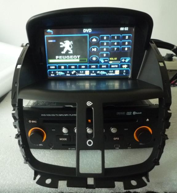 isdb t peugeot 207 car dvd built in gps bluetooth radio sd. Black Bedroom Furniture Sets. Home Design Ideas