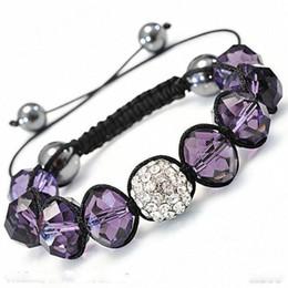 Bijoux de mode 10pcs améthyste cristal bracelet ajustement brillant diamant perle bracelet réglable ? partir de fabricateur