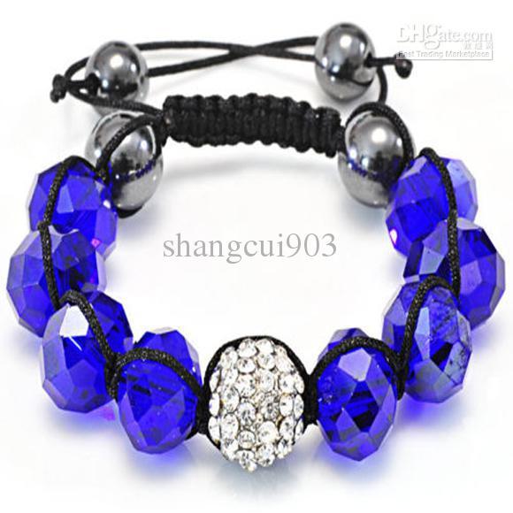 Bijoux de mode améthyste cristal bracelet ajustement brillant diamant perle bracelet réglable