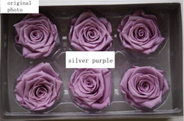 Flower Gift For Love Canada - Preseved rose 6pcs set Eternal life flowers Gift for loved ones Christmas gift multicolor Natural organic immortal flower Gift bos packing