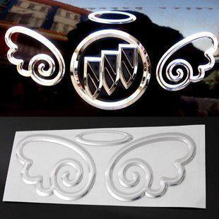 Wholesale Funny Car Decals Stickers Angel Wings 3d PVC Stickers For Car Badge Emblems