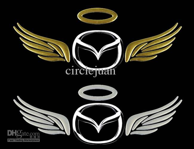 Groothandel 3D PVC Angel Wings Car Stickers Decals Emblemen Badges Car-Styling