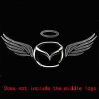 ingrosso badge angeli-Distintivi di adesivi per auto in PVC 3D ali d'angelo autoadesivi distintivi auto-styling