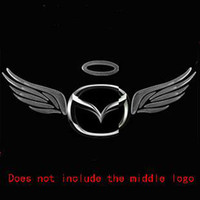 Wholesale Car Wing Doors - Wholesale 3D PVC angel wings car stickers decals emblems badges car-styling