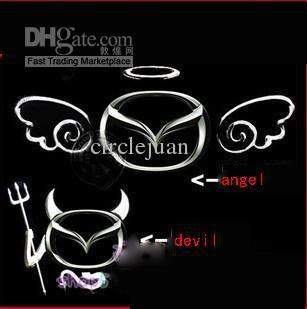 Angel Wings Personliga bilklistermärken Bilklistermärken 3D stereo Ring Dekorativa klistermärken Bilklistermärkear