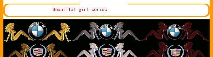 100ピー/ロット卸売3Dマーメイド面白いバンパーステッカーPVC安価な車のエンブレムバッジ車両デカール