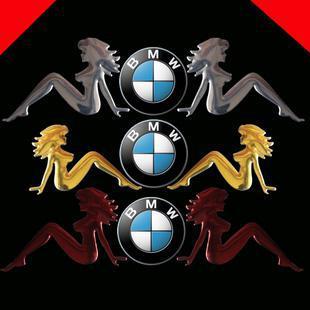 Auto decals for sea-maid soft PVC three colors Car emblem Eadge Funny Bumper Stickers