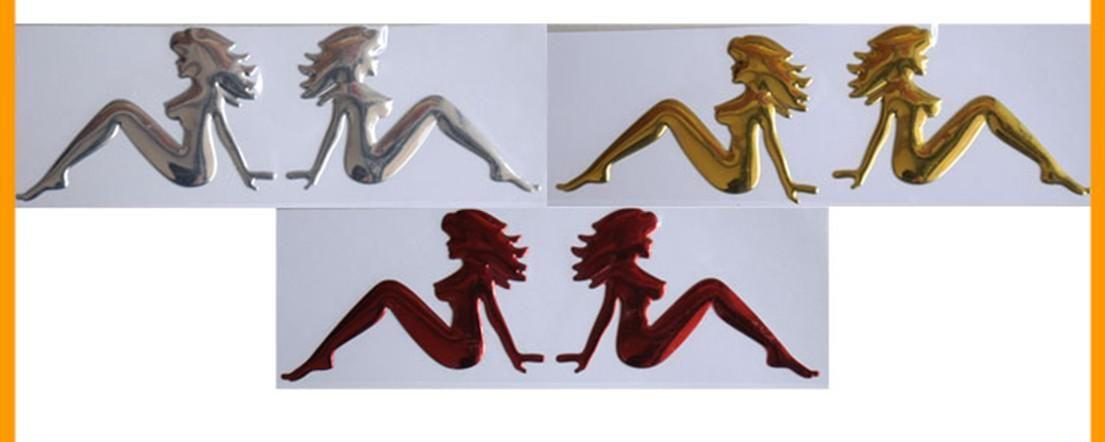 / Decalcomanie auto la pulizia domestica in PVC morbido tre colori Auto emblem Eadge Funny Bumper Stickers
