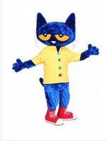 Wholesale Cat Mascots - new Pete the Cat Mascot Costume Fancy Dress,free shipping,factory direct cfvgbty