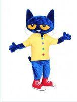 Wholesale Cat Mascot Costume Fancy Dress - new Pete the Cat Mascot Costume Fancy Dress,free shipping,factory direct cfvgbty
