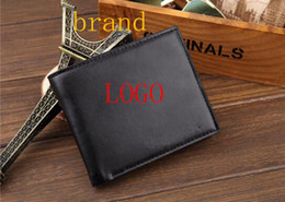 Wholesale Leather Mens Wallet Black - Mens Wallets Top Quality Wallet Card Holder Multi Pockets Credit Cards Purse For Male Simple Design Brand Purses