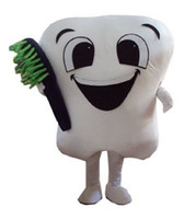 Wholesale Dental Costumes - Brand New tooth mascot costume party costumes fancy dental care character mascot dress amusement park outfit teeth
