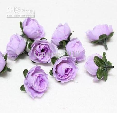 Artificial Silk Simulation Rose Rosebud Flower Head Camellia Flowers With Leaves Wedding & Christmas 6 Colours 3cm
