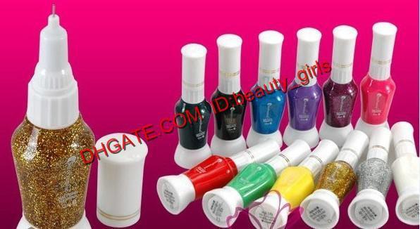 False nail art 2 way pen brush varnish polish nail polish kits 12 color false nail art 2 way pen brush varnish polish freeshipping prinsesfo Gallery
