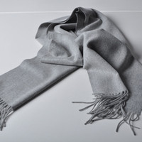 Wholesale Unisex Wool Shawl Scarf - Pure Color 100% Virgin Wool Unisex Pashmina Cashmere Scarf Shawl 2017 New Acne Pashmina For both Man and Woman