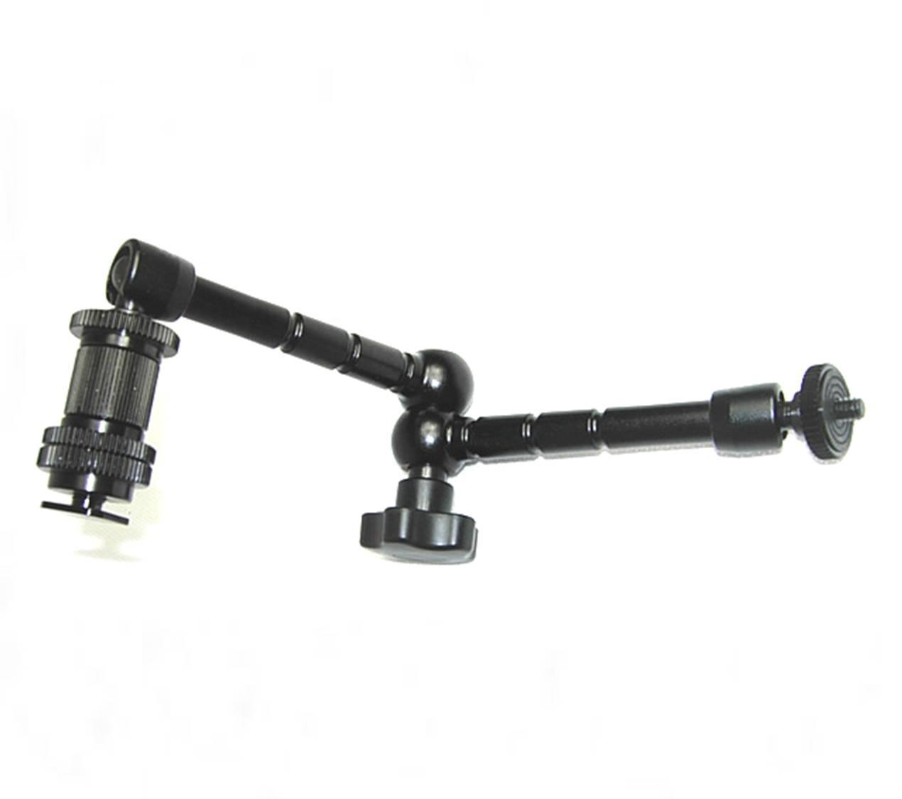 Articulating Magic Arm 11 '' Inch + Super Clamp DSLR Camera Rig Led Light Lcd Field Monitor
