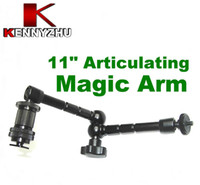 Free DHL DSLR Rig Articulating Magic Arm 11 '' Para DSLR Camera Led Light Lcd Field Monitor Alumínio Matieral