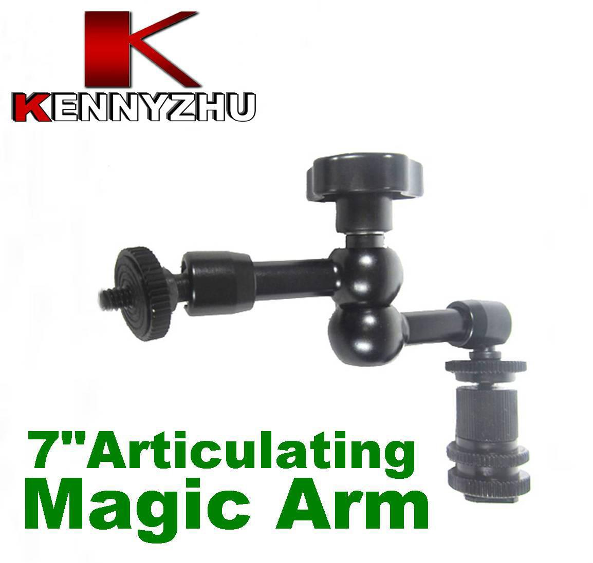 DSLR Rig Articulating Magic Arm 7 '' para DSLR Camera Led Light Lcd Monitor de campo Aluminium Matieral