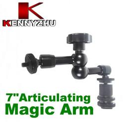 Dslr Camera Canada - DSLR Rig Articulating Magic Arm 7'' For DSLR Camera Led Light Lcd Field Monitor Aluminum Matieral