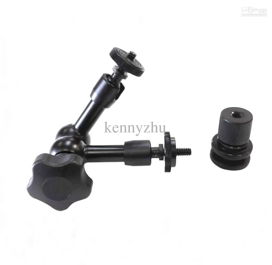 Articulating Magic Arm 7'' Inch + Large Super Clamp 1/4'' 3/8'' For DSLR Camera Rig Led Light Lcd Field Monitor