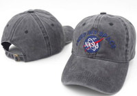 Wholesale felt baseball cap for sale - Group buy Hot Christmas Sale MY SPACE NASA Meat Ball god Embroidered Cotton dad hat snapback Baseball cap i feel like pablo casquette caps hats