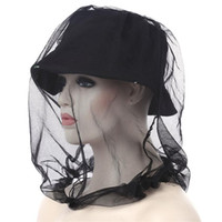 Outdoor Anti Mosquito Midge Fly Insect Hat Gauze Net Mask Fishing Camping Face Protect Cap