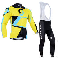 Wholesale Scott Winter Cycling - 3 styles Team Scott KTM fleece winter Cycling clothing long sleeve cycling jersey 2016 ropa ciclismo hombre MTB bike jersey maillot ciclismo