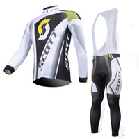 Wholesale Scott Clothing Cycling Jersey Winter - Team Scott KTM men winter Cycling clothing fleece long sleeve cycling jersey 2016 ropa ciclismo hombre MTB bike jersey maillot ciclismo